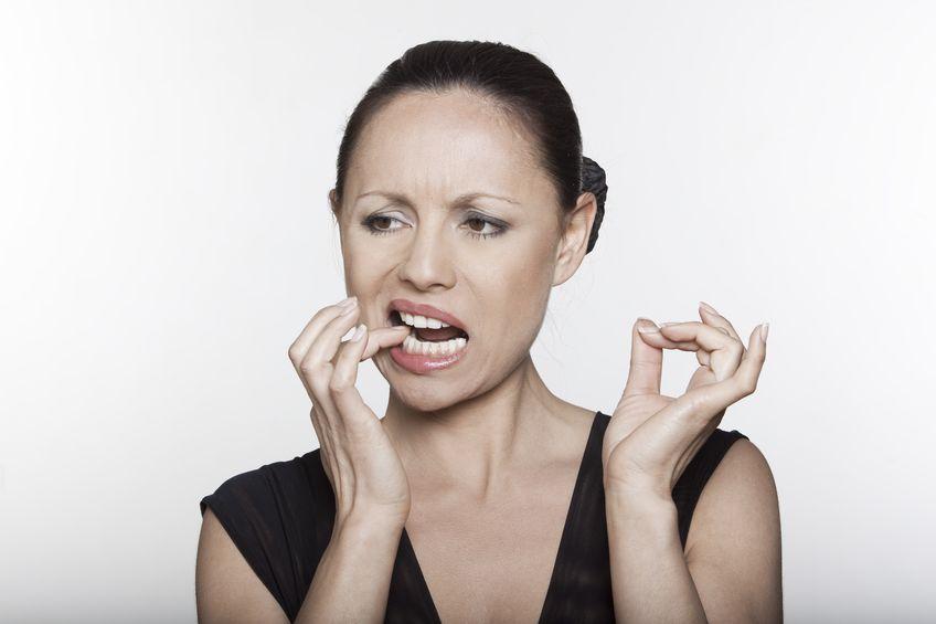 Woman Touching Sensetive Teeth